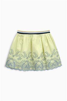 Green Broderie Skirt (3-16yrs)