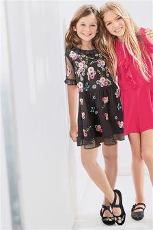 Black Embellished Dress (3-16yrs)