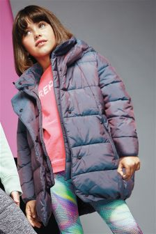 Metallic Long Padded Coat (3-16yrs)