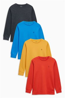 Multi Long Sleeve T-Shirt Four Pack (3-16yrs)