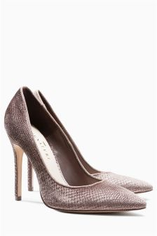 Signature Velvet Pointed Court Shoes