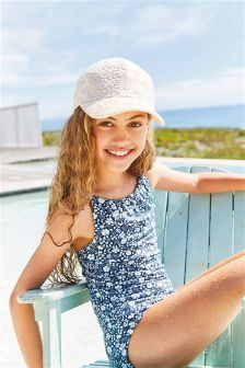 Navy Floral Ditsy Swimsuit (3-16yrs)