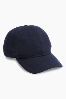 Navy Felt Cap