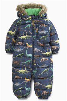 Navy Dinosaur Snowsuit (3mths-6yrs)