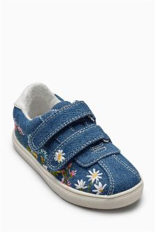 Embroidered Trainers (Younger Girls)