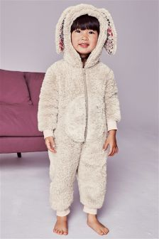 Mink Bunny Fleece All-In-One (9mths-8yrs)