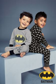 Monochrome Batman® Pyjamas Two Pack (9mths-8yrs)