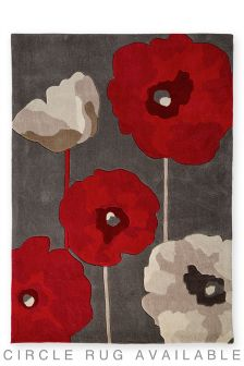 Red Meadow Poppy Rug