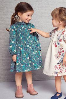 Teal Print Dress (3mths-6yrs)
