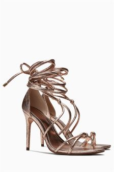 Metallic Tubular Glam Sandals
