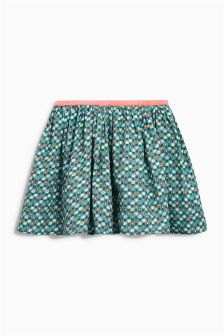 Green Geo Print Skirt (3mths-6yrs)
