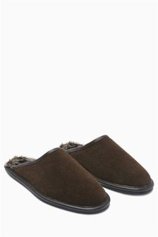 Brown Luxury Suede Mule