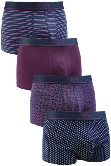 Purple Mix Hipsters Four Pack