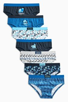 Blue Days Of The Week Briefs Seven Pack (1.5-12yrs)