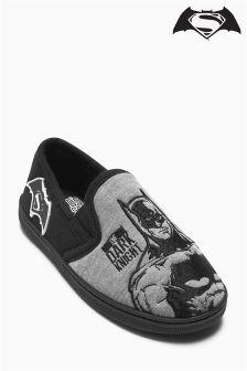 Grey Batman® Vs Superman® Slippers (Older Boys)