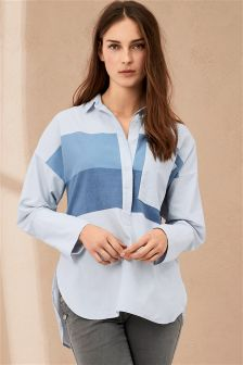 Blue Colourblock Shirt