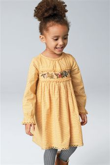 Ochre Character Embellished Dress (3mths-6yrs)