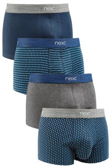 Blue Mix Hipsters Four Pack