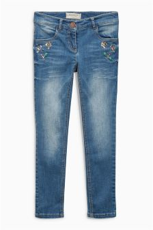 Dark Blue Authentic Jewel Skinny Jeans (3-16yrs)