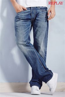 Blue Wash Replay® Newbill Comfort Fit Jeans