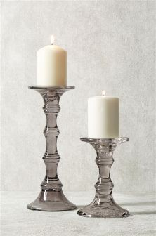 Luster Glass Candle Sticks