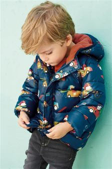 Car Print Padded Jacket (3mths-6yrs)