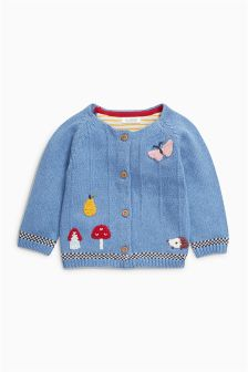 Blue Embroidered Cardigan (0mths-2yrs)