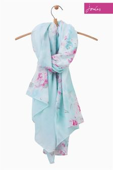 Joules Pool Blue Ikat Harmony Scarf