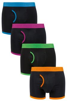 Black Bright Bind A-Fronts Four Pack