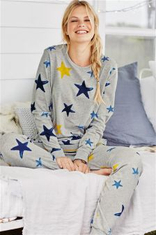Grey Star Print Pyjamas