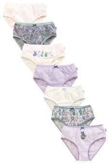 Pink/Lilac Bunny Briefs Seven Pack (1.5-12yrs)