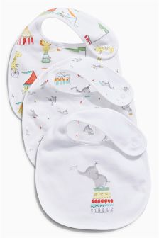 Bright Circus Regular Bibs Three Pack