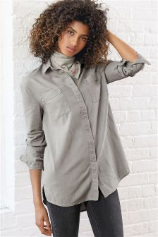 Grey Soft Denim Shirt