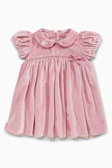 Pink Velvet Dress (0mths-2yrs)