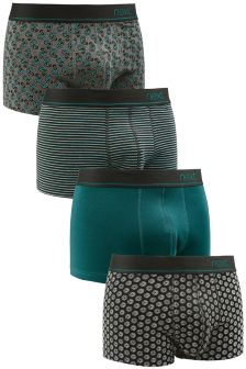 Teal Mix Hipsters Four Pack