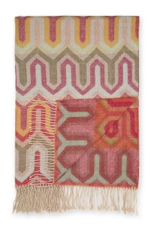 Pink Geometric Pattern Throw