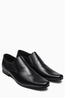 Black Plain Slip-On