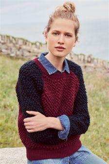 Loopy Colourblock Sweater
