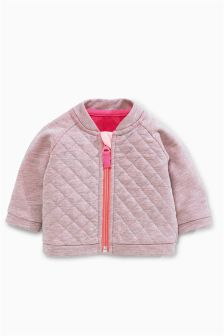 Pink Quilted Cardigan (0mths-2yrs)