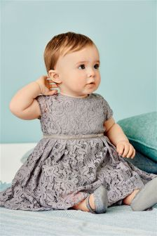 Grey Lace Dress (0mths-2yrs)