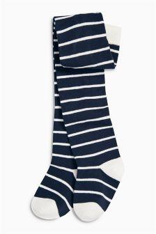 Navy Stripe Tights (0mths-6yrs)