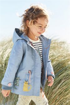 Blue Cat Embellished Technical Jacket (3mths-6yrs)