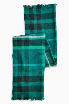 Teal Check Scarf (Older Girls)