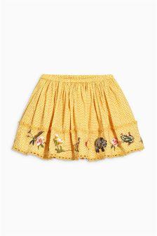 Ochre Character Embellished Skirt (3mths-6yrs)