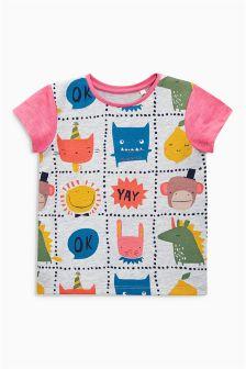Multi Character Print T-Shirt (3mths-6yrs)