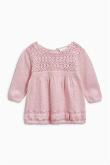 Pink Knit Dress (0mths-2yrs)