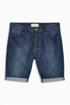 Mid Wash Denim Regular Fit Shorts