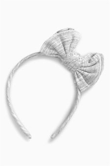 Grey Bow Headband