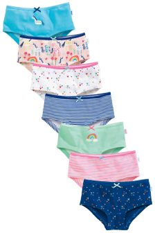 Pink/Blue Unicorn Hipsters Seven Pack (1.5-16yrs)
