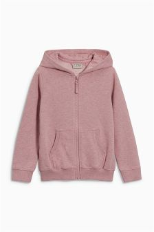 Pink Marl Zip Through Hoody (3-16yrs)